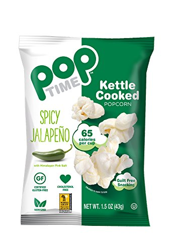 POP Time Kettle Corn, - Spicy Jalapeno - 1.5 OZ (Pack of 24) ()