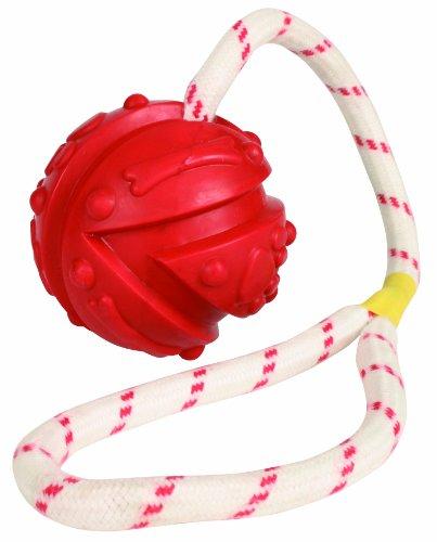 Trixie 33482 Ball am Seil, Naturgummi