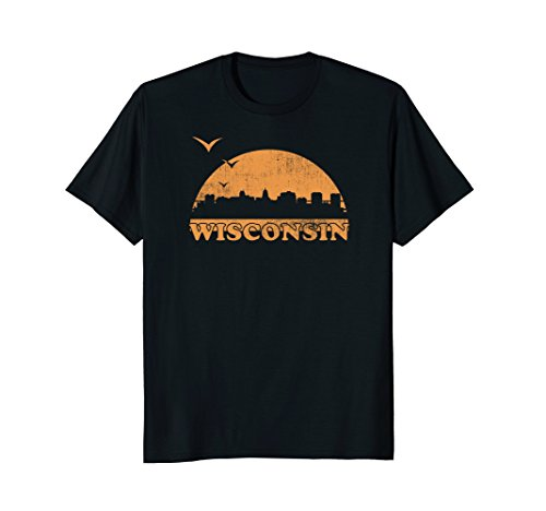 Vintage Wisconsin 70s 80s Sunrise T-Shirt - WI Distressed Te