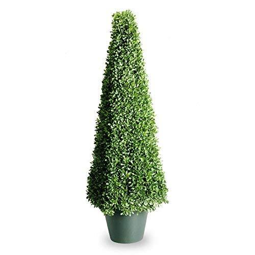- National Tree 48 Inch Mini Boxwood Square Plant in Green Pot (LBXM4-704-48-1)