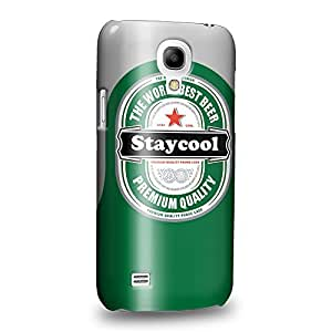 Case88 Premium Designs Stay Cool Beer Can Protective Snap-on Hard Back Case Cover for Samsung Galaxy S4 mini
