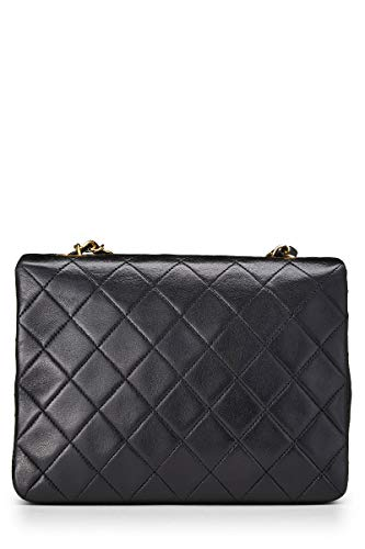 CHANEL Black Quilted Lambskin Half Flap Small (Pre-Owned)