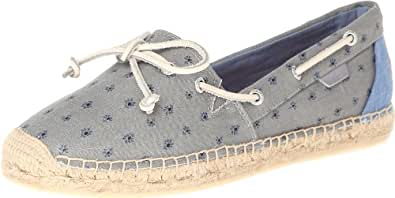 Sperry Top-Sider Women's Katama Mini Floral Espadrille Sandal,Grey,6 M US