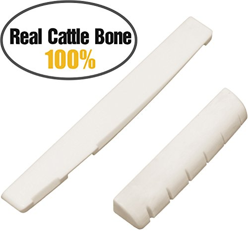 Acoustic Nut and Saddle Repleacement Real Bone Guitar Nut & Bridge Guitar Saddle Replacement Parts