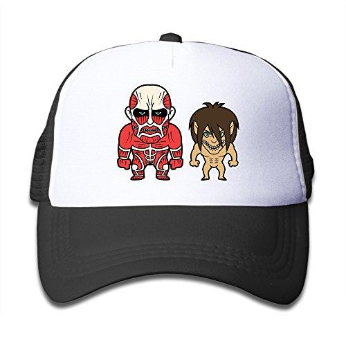 attack-on-titan-chibi-adjustable-trucker-hat-one-size-black