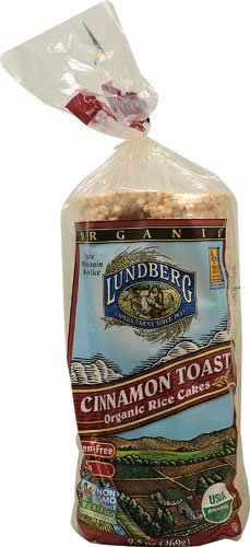 Lundberg Organic Rice Cakes Cinnamon Toast -- 9.5 oz - 2 pc