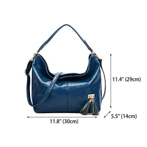 para asa mano con Shoppers Carteras Bolsos mujer y bolsos Bolsos de Azul bandolera hombro de DEERWORD 5wq6C4fwO