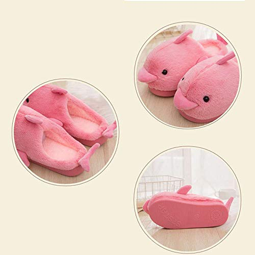 Indoor House Funny Slippers Shoes 34 Floor Soft Womens Cute Plush Red Dolphin Kids Rg68SxR