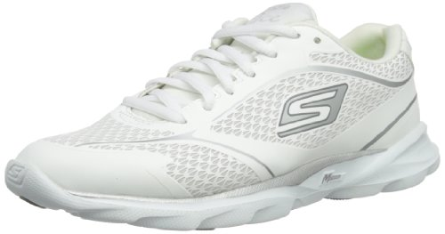 Skechers GO Run Pace - Zapatos Mujer Blanco (Weiß (Wsl))