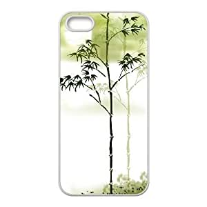 Cool Painting Bamboo Customized Cover Case for Iphone 5,5S,custom phone case case-334772