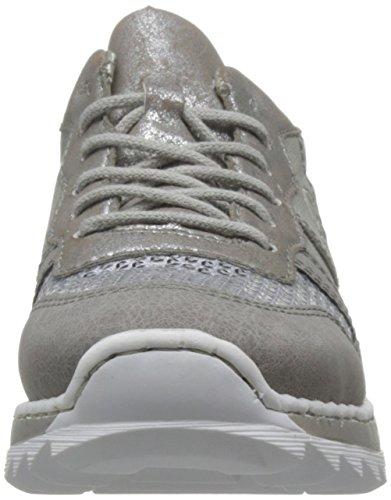 Rieker Damen Sneaker Grau Grau