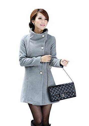 Aisuper - Abrigo - para mujer gris