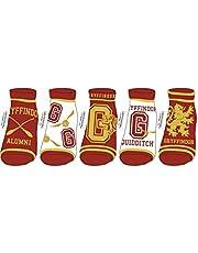 Bioworld Harry Potter School Ladie's Women 5 Pack Pairs Ankle Socks