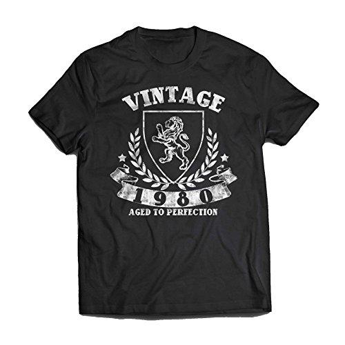 Vintage 1980 Birthdays Vintage 19?? T-Shirt Small Black