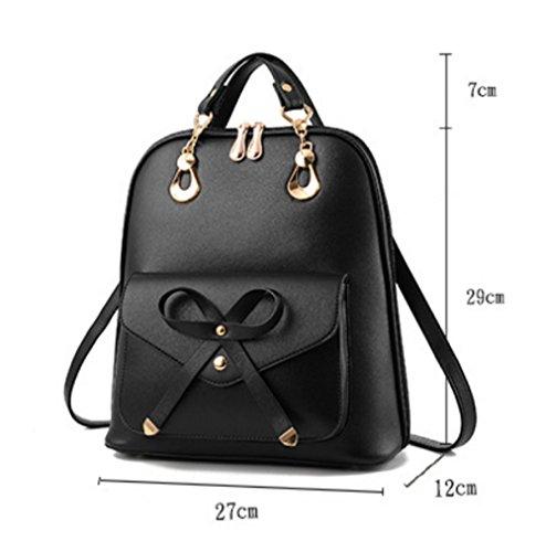 Girls White Travel Student Women Rucksack Backpack Fashion Casual School Bag dwzAZCq