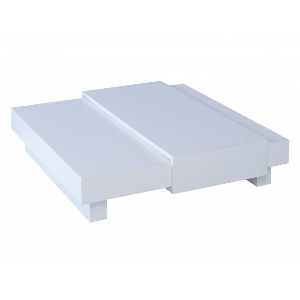 Gillmore Space White and White Accent Square Coffee Table