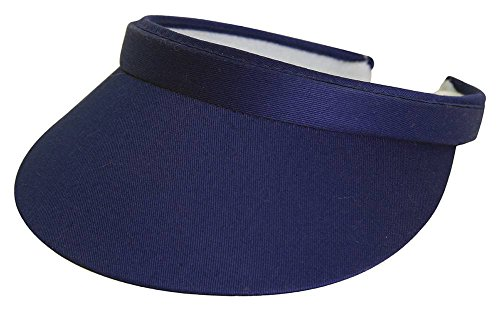 TopHeadwear Sports Cotton Twill Clip-On Visor -Navy Blue
