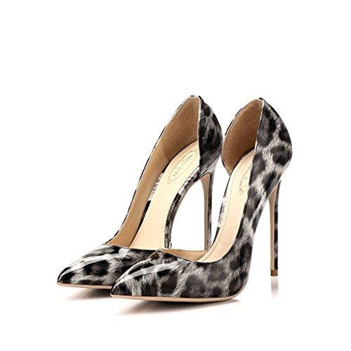 Hohen Mund Seite Spitz Hyun mit Fein Mode cm Times Flachen Schuhe Frauen Hohlen 12 Absätzen wRFSOqA
