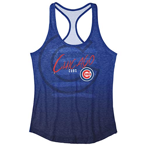FOCO MLB Chicago Cubs Heather Stripe Tank - Womens - Cubs Women Chicago Shirts
