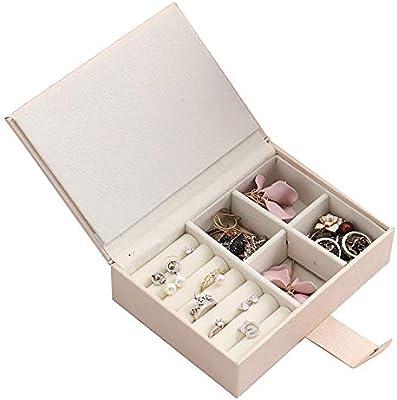 Caja de almacenamiento de joyas Estuche de almacenamiento de cajas con para niñas de mujeres (negro, rosa) Estuche de almacenamiento organizador de cajas de joyería Regalo para niñas madre mujeres: Amazon.es: Hogar
