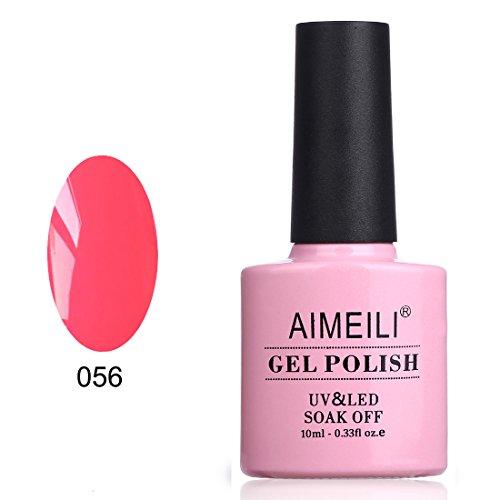 AIMEILI Soak Off UV LED Gel Nail Polish - Neon Peachy Pink