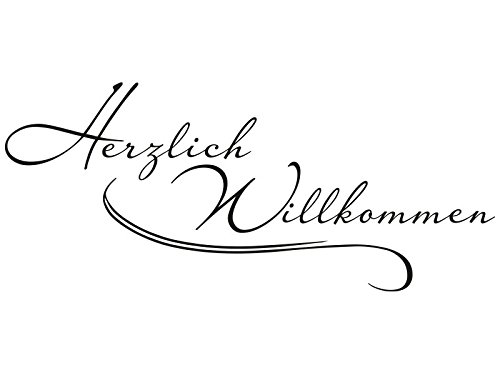 Klebeheld® Klebeheld® Klebeheld® Wandtattoo Herzlich Willkommen No.5 B012BH32EU Wandtattoos & Wandbilder 879416