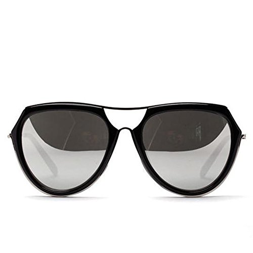 Y-H Ladies Aviator Fashion Retro Vintage Street Vogue Sunglasses-Silver (Halloween Store Portland Oregon)