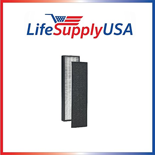 LifeSupplyUSA True HEPA Replacement Filter for GermGuardian FLT4825 FLT-4850 AC4800 4800 Series, Germ Guardian Filter B