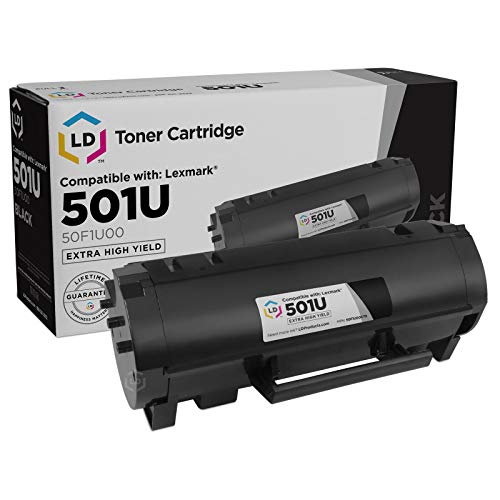 - LD Compatible Toner Cartridge Replacement for Lexmark 501U 50F1U00 Ultra High Yield (Black)
