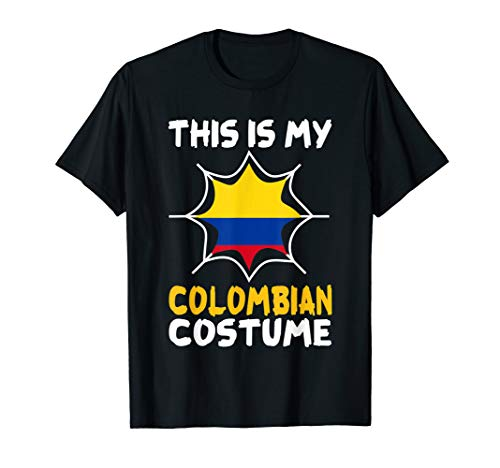 This Is My Colombian Costume Halloween Patriot Colombia Tee]()