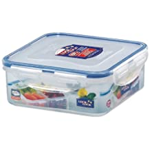 Lock & Lock HPL823C Stackable Airtight Container Square w/divider 870ml