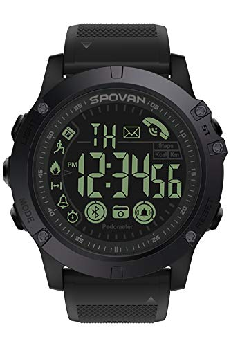 Mens Digital Sports Watch Waterproof Outdoor Military Pedometer Calorie Counter Multifunction Bluetooth Smart Watch (Best Wishes For Exam Sms)