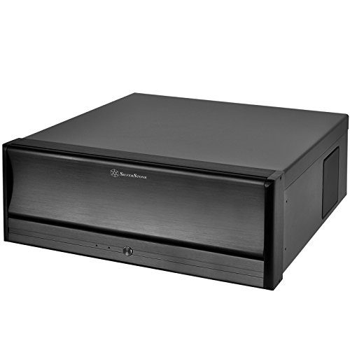 Silverstone SST-LC13B-E PC-Gehäuse (micro-ATX, 2x 5,25 externe, 4x 3,5 interne, USB 3.0) schwarz