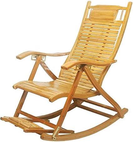 ADHW Reclinables, sillas reclinables Exterior, balancín, jardín al Aire Libre Mecedora Silla de relajación, tumbonas reclinables Balcón (Color : A): Amazon.es: Hogar