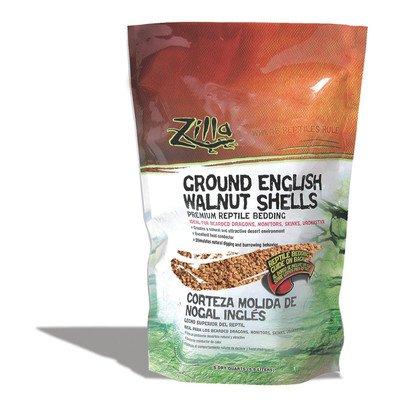 Zilla Reptile English Walnut Shell Litter [Set of 2] Size: 5 Quarts by Zilla