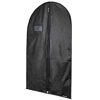 Hangerworld 10 Fundas de Ropa 102cm Porta Traje Transpirable con Cremallera Negro Anti-Polilla