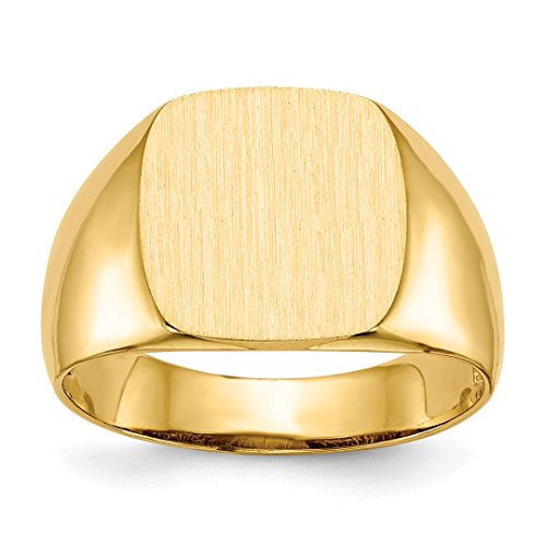 - 14k Yellow Gold Mens Signet Band Ring Size 9.00 Man Fine Jewelry Dad Mens Gift Set