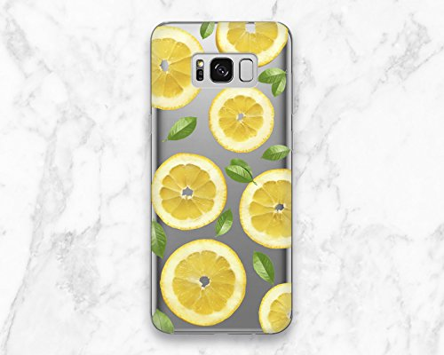 - Yellow Summer Floral Lemon Fruit Back Cover Case For Phone Samsung Galaxy Note 8 S6 S7 S8 S9 Edge Plus
