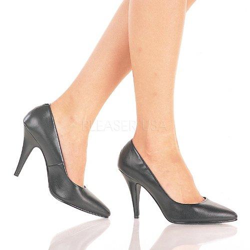 Pleaser - Zapatos de vestir de piel para mujer negro Schwarz, color negro, talla 7 UK