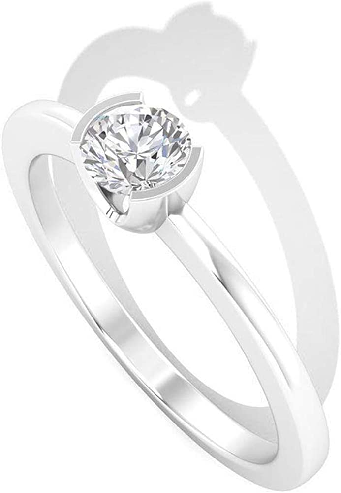 Anillo de boda de oro de diamantes certificado IGI de 0,25 ct, claridad de color IJ-SI solitario anillo de diamantes, declaración de compromiso para mujeres, anillo de promesa de novia