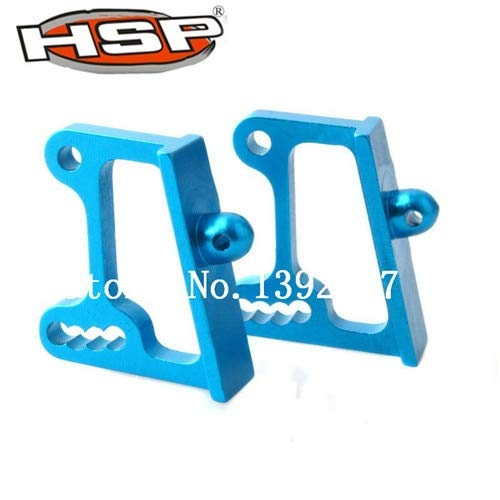 Part & Accessories 1 Pair 166045 Upgrade Spare Parts For 1/10 R/C Model Car Aluminum Alloy Wing Adjustable Mount Blue ()