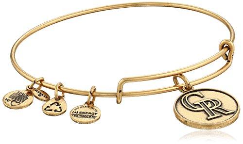 Alex and Ani Colorado Rockies Cap Logo Expandable Rafaelian Gold Bangle Bracelet