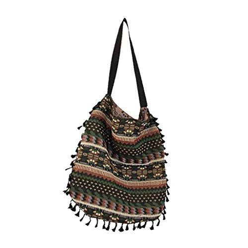 Shopping Bag Purse Hobo Kofun Women Messenger Tassel Bags Tote Handbag Shoulder Fringe 1FZX6