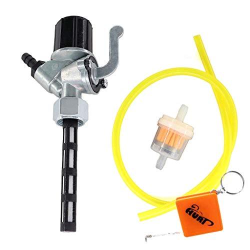 HURI Benzinegraan M16x1 incl. waterzak & benzineslang Benzinefilter voor Simson S50 S51 S53 S70 S83 SR1 SR2 SR4-1 Spatz…