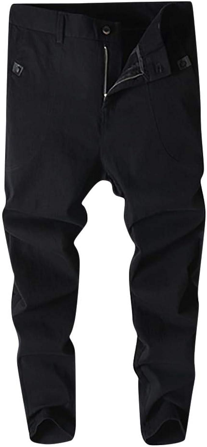 Jotebriyo Mens Casual Stretchy Pencil Ankle Harem Jeans Denim Pants