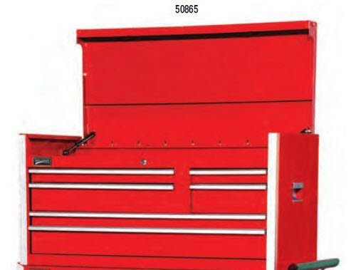 Williams 50865 7 Drawer 42-Inch Commercial Top Chest, Red (Williams Tool Chest)