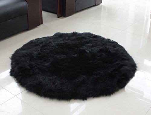 Rugs Wool Circular - Genuine Sheepskin Long Wool Circle Circular Floor Rug Carpet Mat 20