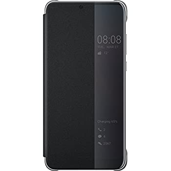 Nuovi Prodotti fce6d fb472 Genuine Official Huawei Smart Flip View Cover Case for Huawei P20-51992399  - Black