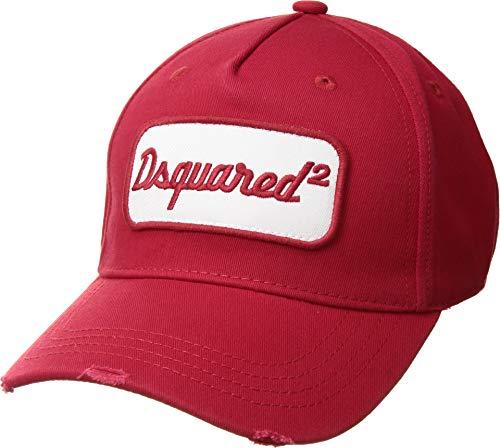 DSQUARED2 Men s Retro Logo Baseball Cap Red One Size 9f80a879d8cc