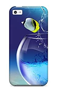 Slim Fit Tpu Protector Shock Absorbent Bumper Fishy Life Case For Iphone 5c